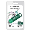 EXPLOYD 570 32GB (зеленый) - USB Flash driveUSB Flash drive<br>Флэш-накопитель 32 Гб, интерфейс USB 2.0, скорость чтения/записи: 15/8 Мб/с.<br>