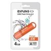 EXPLOYD 570 4GB (оранжевый) - USB Flash driveUSB Flash drive<br>Флэш-накопитель 4 Гб, интерфейс USB 2.0, скорость чтения/записи: 15/8 Мб/с.<br>