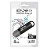 EXPLOYD 570 4GB (черный) - USB Flash driveUSB Flash drive<br>Флэш-накопитель 4 Гб, интерфейс USB 2.0, скорость чтения/записи: 15/8 Мб/с.<br>
