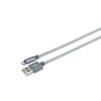 MFi-кабель USB-Lightning для Apple iPhone 5, 5C, 5S, SE, 6, 6 plus, 6S, 6S Plus, 7, 7 Plus, iPad 4, Air, Air 2, Pro 9.7, Pro 12.9, PRO, mini 1, mini 2, mini 3, mini 4(Romoss CB13n-560-03-SG) (серый) - Usb, hdmi кабельUSB-, HDMI-кабели, переходники<br>Кабель для быстрой зарядки и синхронизации через USB-порт, разъемы USB-Lightning, длина 1м.<br>