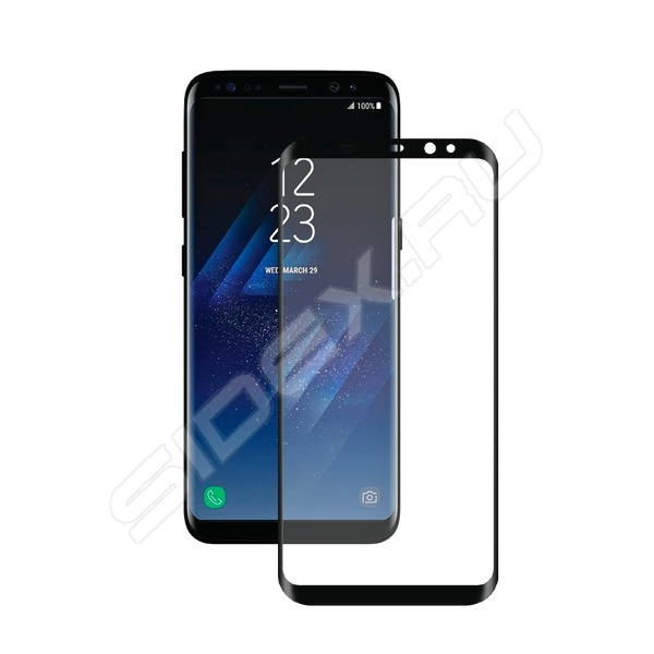 Защитное стекло 3D Deppa 61999 для Apple iPhone 6/6S Plus 0.3 мм черное