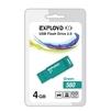 EXPLOYD 560 4GB (зеленый) - USB Flash driveUSB Flash drive<br>EXPLOYD 560 4GB - флеш-накопитель, объем 4Гб, USB 2.0, 15Мб/с.<br>