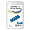 EXPLOYD 560 4GB (синий) - USB Flash driveUSB Flash drive<br>EXPLOYD 560 4GB - флеш-накопитель, объем 4Гб, USB 2.0, 15Мб/с.<br>