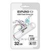 EXPLOYD 570 32GB (белый) - USB Flash driveUSB Flash drive<br>EXPLOYD 570 - флэш-накопитель, объем 32 Гб, интерфейс USB 2.0, скорость чтения/записи: 15/8 Мб/с.<br>