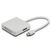 Переходник DisplayPort 20F - HDMI 19F - DVI 25+4F (Greenconnect GCR-MDP2DHD) (белый) - Usb, hdmi кабель, переходникUSB-, HDMI-кабели, переходники<br>Служит для подключения MacBook, MacBook Pro или MacBook Air с Mini DisplayPort и обычных дисплеев, таких как CRT, LCD мониторы и проекторы.<br>