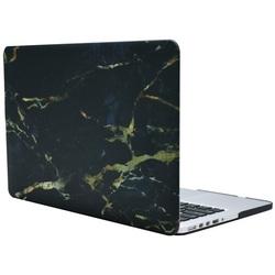 Чехол-накладка для Apple MacBook Air 11 (i-Blason 663253) (черно-золотистый мрамор)