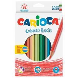 Карандаши цветные Carioca HEXAGONAL 41875 шестигранные 36цв. коробка, европод.