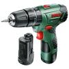 Bosch EasyImpact 12 2.5Ah x2 Case - ШуруповертДрели, шуруповерты, гайковерты<br>Дрель-шуруповерт, патрон: быстрозажимной, работа от аккумулятора, количество скоростей: 2, патрон 10 мм, реверс, фиксация шпинделя, вес 1 кг, кейс в комплекте<br>