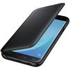 Чехол-книжка для Samsung Galaxy J5 2017 (Wallet Cover EF-WJ530CBEGRU) (черный) - Чехол для телефонаЧехлы для мобильных телефонов<br>Надежно защитит смартфон от внешних воздействий, попадания грязи, пыли и брызг.<br>