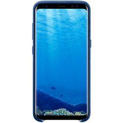 Чехол-накладка для Samsung Galaxy S8 (Alcantara Cover EF-XG950ALEGRU) (синий)