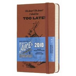 Ежедневник Moleskine ALICE IN WONDERLAND POCKET LE 90x140мм обложка текстиль 400стр. оранжевый