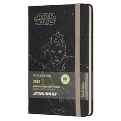 Еженедельник Moleskine STAR WARS WKNT POCKET LE 90x140мм 144стр. фиксирующая резинка черный Rey