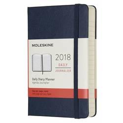 Ежедневник Moleskine CLASSIC DAILY POCKET 90x140мм 400стр. фиксирующая резинка синий сапфир
