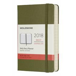 Ежедневник Moleskine CLASSIC DAILY POCKET 90x140мм 400стр. фиксирующая резинка зеленый вяз