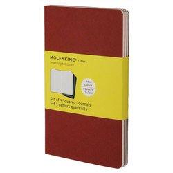 Блокнот Moleskine CAHIER JOURNAL CH117 Large 130х210мм обложка картон 80стр. клетка клюквенный (3шт)