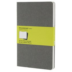 Блокнот Moleskine CAHIER JOURNAL CH318 Large 130х210мм обложка картон 80стр. нелинованный серый (3шт)
