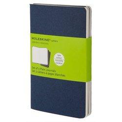 Блокнот Moleskine CAHIER JOURNAL CH218 Large 130х210мм обложка картон 80стр. нелинованный синий индиго (3шт)