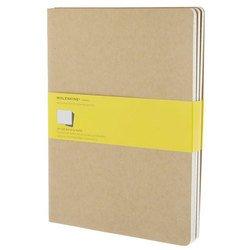 Блокнот Moleskine CAHIER JOURNAL QP422 XLarge 190х250мм обложка картон 120стр. клетка бежевый (3шт)