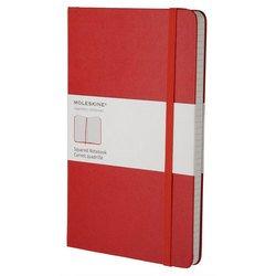Блокнот Moleskine CLASSIC QP061R Large 130х210мм 240стр. клетка твердая обложка фиксирующая резинка красный
