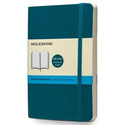 Блокнот Moleskine CLASSIC SOFT QP614B6 Pocket 90x140мм 192стр. пунктир мягкая обложка фиксирующая резинка бирюзовый