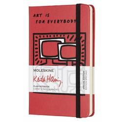 Блокнот Moleskine Limited Edition KEITH HARING LEKH01QP012 Pocket 90x140мм 192стр. нелинованный красный