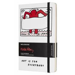 Блокнот Moleskine Limited Edition KEITH HARING LEKH01QP062 Large 130х210мм 240стр. нелинованный белый