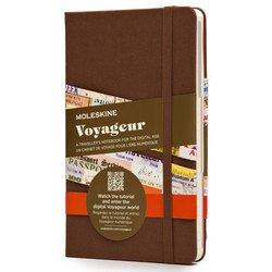 Блокнот Moleskine VOYAGEUR VN001P4 115x180мм обложка текстиль 208стр. фиксирующая резинка коричневый