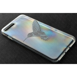 Силиконовый чехол-накладка для Apple iPhone 7 Plus (iBox Fashion YT000009758) (дизайн Колибри)