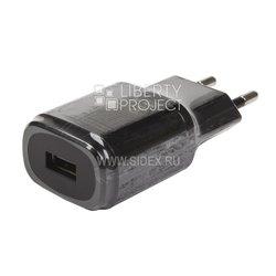 Универсальное сетевое зарядное устройство, адаптер 1хUSB, 1.8А (Liberti Project 0L-00029370) (черный)