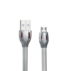 Кабель USB - microUSB 1м (Remax Laser Data Cable RC-035i) (серый)