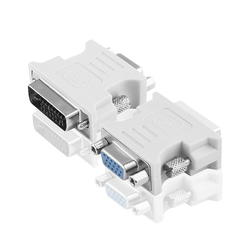 Переходник DVI-D 24+1М - VGA 15F (Greenconnect GCR-CV103D) (серый)