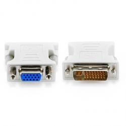 Переходник DVI-I - VGA 15F (Greenconnect GCR-CV103D) (белый)