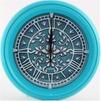 Vigor Д-24 Лепнина (бирюзовый) - Настенные часыНастенные часы<br>Классические настенные часы с кварцевым механизмом, питание от одной батарейки АА, диаметр 240 мм.<br>