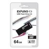 EXPLOYD 580 64GB (черный) - USB Flash driveUSB Flash drive<br>EXPLOYD 580 - флэш-накопитель, объем 64 Гб, интерфейс USB 2.0, скорость чтения/записи: 15/8 Мб/с, выдвижной разъем.<br>