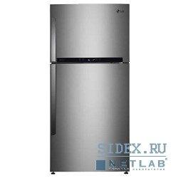 Холодильник LG GR-M802HMHM,  двухкамерный,  нержавеющая сталь