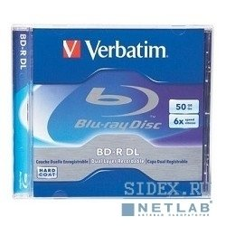 Диск BD-R Verbatim 6-x,  50 Gb,  Jewel Case Ink Print диски (43736, 43735)