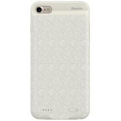 Чехол-аккумулятор для Apple iPhone 7 2500mAh (Baseus Plaid Backpack Power Bank ACAPIPH7-BJO2) (белый)