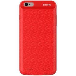 Чехол-аккумулятор для Apple iPhone 6, 6s 2500mAh (Baseus Plaid Backpack Power Bank ACAPIPH6-BJ09) (красный)