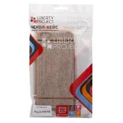 Чехол-накладка для Apple iPhone 5, 5s, SE (Liberti Project 0L-00031823) (коричневый, золотая рамка)