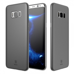Чехол-накладка для Samsung Galaxy S8 Plus (Baseus Wing Case wisas8p-01) (прозрачный, черный)