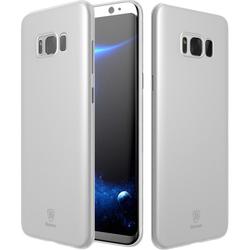 Чехол-накладка для Samsung Galaxy S8 Plus (Baseus Wing Case wisas8p-02) (прозрачный, белый)
