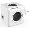 Сетевой разветвитель Allocacoc PowerCube 1202GY/DEOUPC (4 розетки, 2хUSB) (белый, черный) - Сетевой фильтрСетевые фильтры<br>Сетевой разветвитель, заземление, защитные шторки, количество USB - 2 по 5В / 2.1A, количество розеток - 4, максимальная нагрузка на линию - 1000 Вт, материал - термостойкая электротехническая пластмасса, рабочее напряжение - 230 В, сила тока - 16 А.<br>