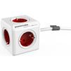Сетевой удлинитель Allocacoc PowerCube Extended 1307/DEEXPC (5 розеток) (белый, красный) - Сетевой фильтрСетевые фильтры<br>Сетевой разветвитель, заземление, защитные шторки, количество розеток - 5, максимальная нагрузка на линию - 1000 Вт, рабочее напряжение - 230 В, сила тока - 16 А.<br>