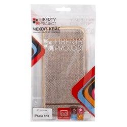Чехол-накладка для Apple iPhone 6, 6s (Liberti Project 0L-00031824) (бежевый, золотая рамка)