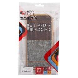 Чехол-накладка для Apple iPhone 6, 6s (Liberti Project 0L-00031827) (коричневый, золотая рамка)