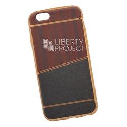 Чехол-накладка для Apple iPhone 6, 6s (Liberti Project 0L-00031830) (коричневый, золотая рамка)