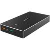 Aukey PB-T10 20000 mAh (черный) - Внешний аккумуляторУниверсальные внешние аккумуляторы<br>Внешний аккумулятор, USB Type A, MicroUSB, Lightning, светодиодный индикатор, ёмкость аккумулятора 20000 мАч, количество выходов для зарядки - 2, материал корпуса - пластик.<br>