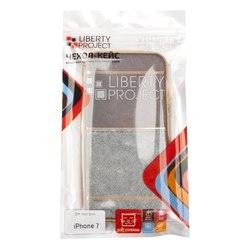 Чехол-накладка для Apple iPhone 7 (Liberti Project 0L-00031828) (коричневый, золотая рамка)