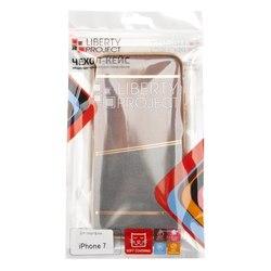 Чехол-накладка для Apple iPhone 7 (Liberti Project 0L-00031831) (коричневый, золотая рамка)