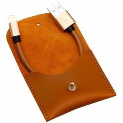 Кабель USB - Lightning для Apple iPhone 5, 5C, 5S, SE, 6, 6 plus, 6S, 6S Plus, 7, 7 Plus, iPad 4, Air, Air 2, Pro 9.7, Pro 12.9, PRO, mini 1, mini 2, mini 3, mini 4 (Baseus Vina Portable Mini CALYN-AOT) (коричневый)